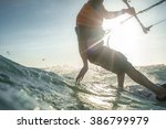 kite surf freestyle ride his... | Shutterstock . vector #386799979