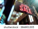 led display   shopping center... | Shutterstock . vector #386801305
