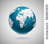 vector polygonal globe icon of...   Shutterstock .eps vector #386801854