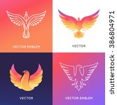 vector abstract logo design... | Shutterstock .eps vector #386804971