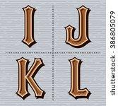 alphabet western letters... | Shutterstock .eps vector #386805079