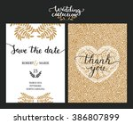 save the date cards  wedding... | Shutterstock . vector #386807899
