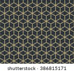 seamless tan blue and brown... | Shutterstock . vector #386815171