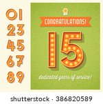 congratulations greeting card... | Shutterstock .eps vector #386820589