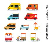 street food vehicles  truck ... | Shutterstock .eps vector #386820751