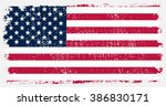 american flag with grunge... | Shutterstock .eps vector #386830171