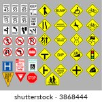 various united states road signs | Shutterstock .eps vector #3868444