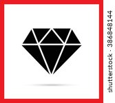 diamond with round cut | Shutterstock .eps vector #386848144