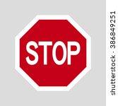 stop design | Shutterstock .eps vector #386849251