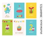vector set for birthday   Shutterstock .eps vector #386849521