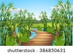 Nature Scene With Bamboos Alon...