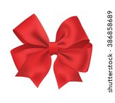 realistic red gift ribbon | Shutterstock .eps vector #386858689