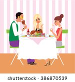 illustration of a family having ... | Shutterstock .eps vector #386870539