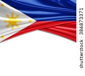 Philippines Flag Of Silk With...
