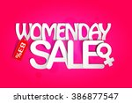 women's day sale poster with...   Shutterstock .eps vector #386877547