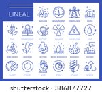 line vector icons in a modern...   Shutterstock .eps vector #386877727