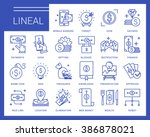 line vector icons in a modern... | Shutterstock .eps vector #386878021