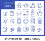 Line Vector Icons In A Modern...