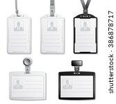 vector identification cards...   Shutterstock .eps vector #386878717