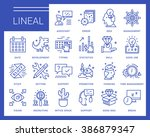 line vector icons in a modern... | Shutterstock .eps vector #386879347