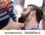 professional hairdresser...   Shutterstock . vector #386880661