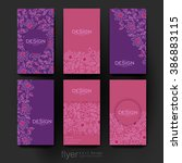 floral abstract vector brochure ... | Shutterstock .eps vector #386883115