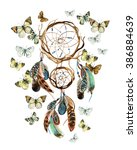 Dream Catcher With Feathers An...