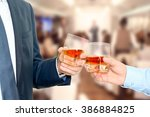 holiday event business people... | Shutterstock . vector #386884825