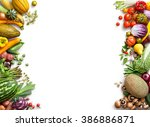 healthy eating background. food ... | Shutterstock . vector #386886871