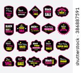 black friday badges | Shutterstock .eps vector #386887591