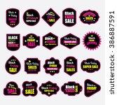 black friday badges | Shutterstock .eps vector #386887591