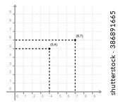 graphing x y points vector  | Shutterstock .eps vector #386891665