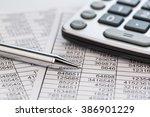calculators and statistk | Shutterstock . vector #386901229