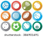 sport ball flat icons  tennis ... | Shutterstock .eps vector #386901691