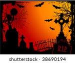 grunge halloween cemetery... | Shutterstock .eps vector #38690194