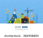 property investment. investment ... | Shutterstock .eps vector #386908804