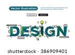 concepts of words design.... | Shutterstock .eps vector #386909401