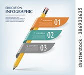 education infographic template... | Shutterstock .eps vector #386933635
