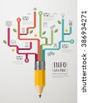 education infographic template... | Shutterstock .eps vector #386934271