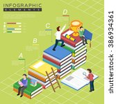 education infographic template... | Shutterstock .eps vector #386934361