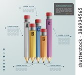 education infographic template... | Shutterstock .eps vector #386934565