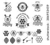 Set Of Vintage Honey Labels ...