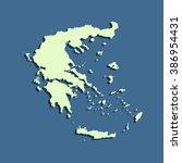 map of greece | Shutterstock .eps vector #386954431