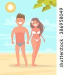 Boy And Girl On The Beach...