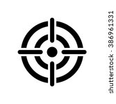 target icon. crosshair in the... | Shutterstock .eps vector #386961331