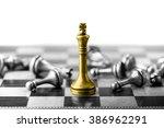 chess business concept  leader  ... | Shutterstock . vector #386962291