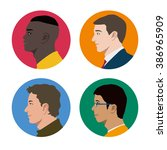 various races men profile icon...