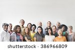 diversity people group team... | Shutterstock . vector #386966809