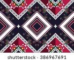 geometric ethnic oriental... | Shutterstock .eps vector #386967691