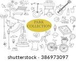 park doodles collection.... | Shutterstock .eps vector #386973097
